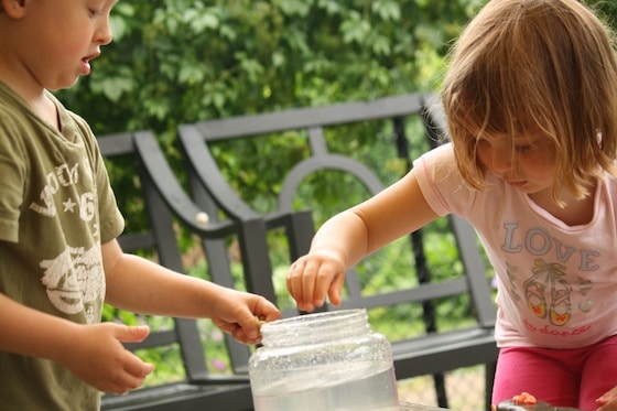 watching the water level rise in a science experiment