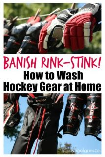 How to wash hockey equipment in the washing machine at home