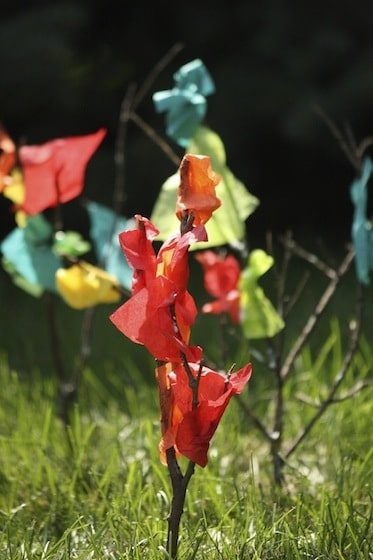 Fall Tree Craft – with Twigs and Tissue Paper