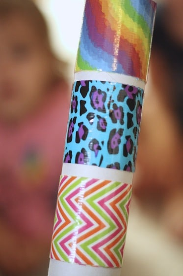 making 3 bracelets on one paper towel tube