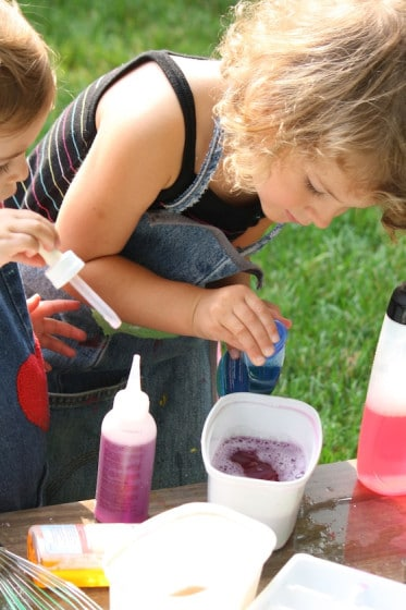 fine motor: opening bottles and squeezing droppers