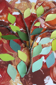paint swatch apple tree collage