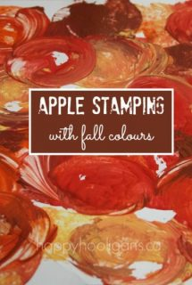 Fall Colour Apple Stamping for Toddlers and Preschoolers