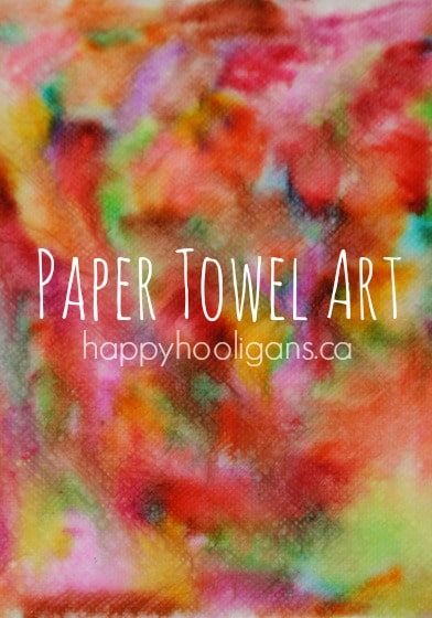 Vibrant Paper Towel Art for Toddlers Thru Tweens