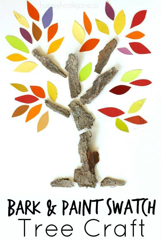 Bark and Paint Swatch Tree Craft