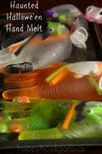 Halloween Science Experiment – Haunted Halloween Hand Melt