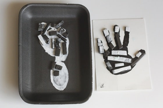 skeleton hand and foot crafts