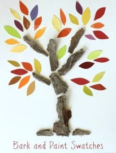 Fall Tree Craft with Paint Chip Samples