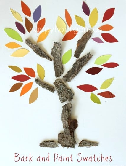 Bark and Paint Swatch Trees