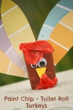 Turkey Craft with Toilet Rolls and Paint Chip Samples