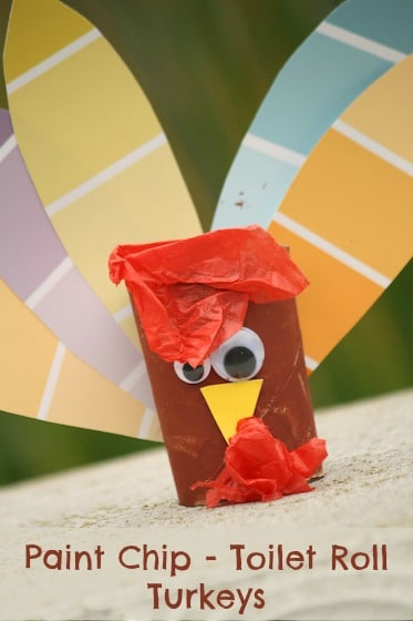 Paint Chip Turkeys Toilet Roll