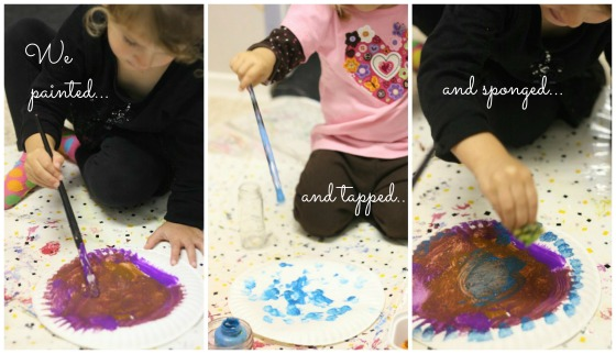 3 methods of toddler painting on a paper plate