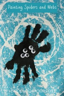 Spider Handprint Craft – and a Cool Way to Paint a Spider's Web