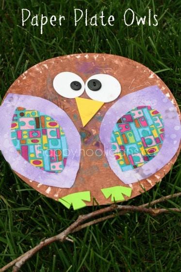 & Paper Plate Owls for Preschoolers - Happy Hooligans