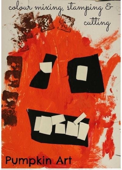 pumpkin art for toddlers and preschoolers - happy hooligans
