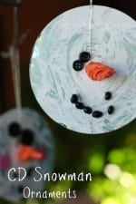 CD Snowman Ornaments for Kids to Make