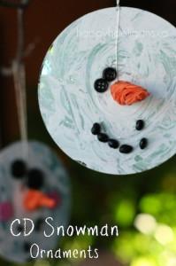 CD Snowman Ornaments