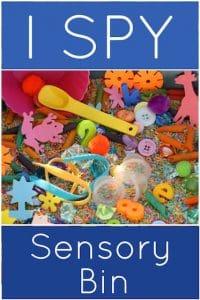 I spy sensory bin for preschool