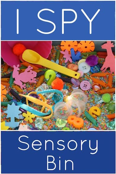 I spy sensory bin for preschool