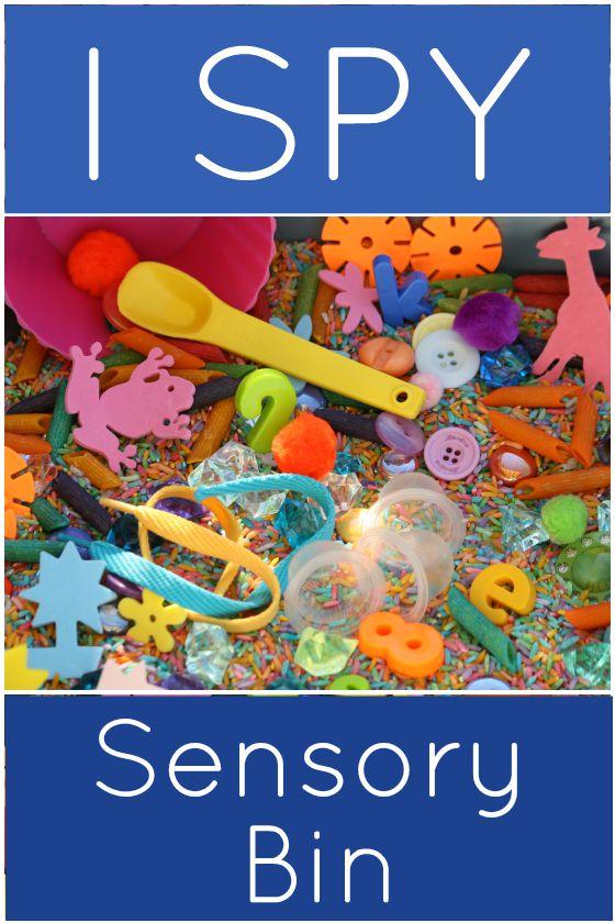 I spy sensory bin
