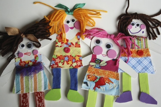 Homemade Paper Dolls Happy Hooligans Crafting With