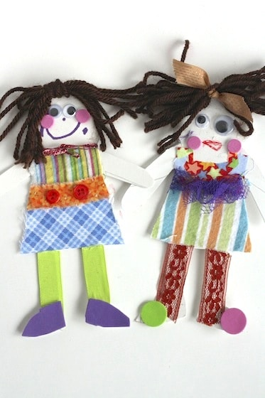 "homemade cardboard ""paper"" dolls"