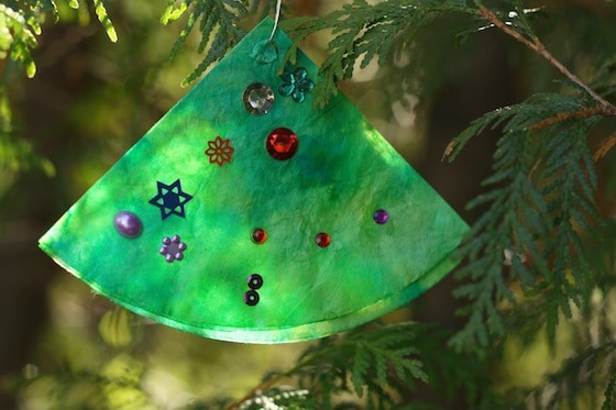coffee filter chirstmas tree decoration