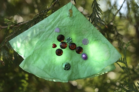 coffee tree ornament made by toddler