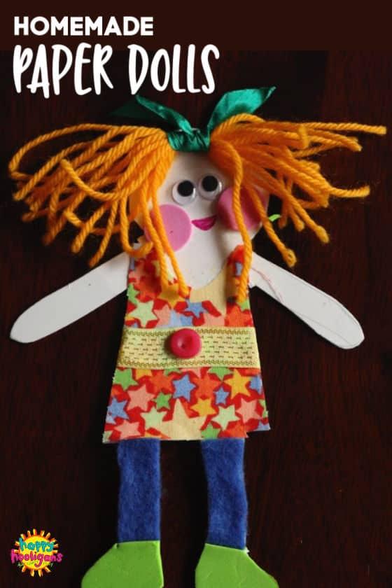 Homemade Paper Dolls for Preschoolers , Happy Hooligans