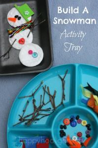 build a snowman activity tray