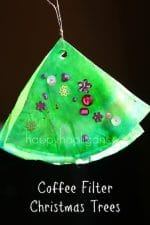 Coffee Filter Christmas Tree Ornaments