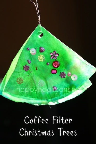 coffee filter christmas tree ornament