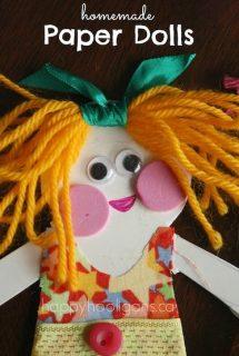homemade paper dolls