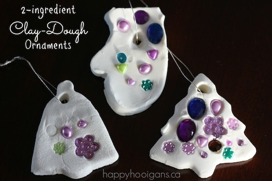 2 ingredient white clay dough ornaments