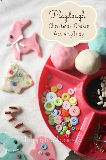 Christmas Cookie Play Dough Activity Tray