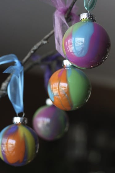 Pour painted christmas ornaments with clear ornaments happy hooligans pour painted christmas tree ornaments solutioingenieria Gallery