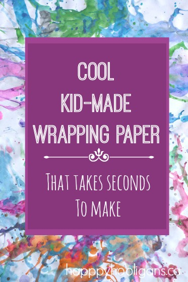 Quick and easy homemade wrapping paper for kids to make
