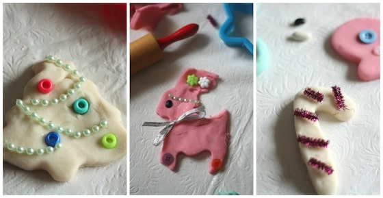 play dough Christmas cookie collage
