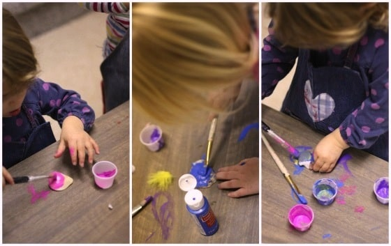 painting seashell Christmas ornaments (collage)