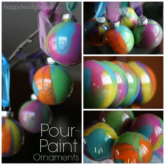 Pour Painted Christmas Ornaments - happy hooligans