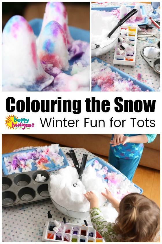 Colouring the Snow – Indoor Winter Activity for Preschoolers