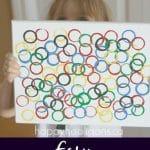 Easy Olympic Ring Art