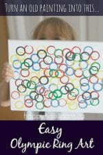 Olympic Ring Art Project for Kids