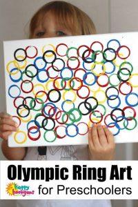 Olympic Ring Art for Preschoolers - Happy Hooligans
