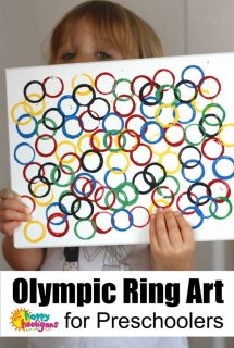 Olympic Ring Art for Preschoolers - Happy Hooligans