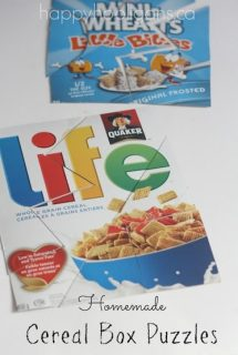 homemade cereal box puzzles