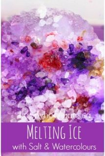 Valentines Ice Melting Activity for Toddlers and Preschoolers