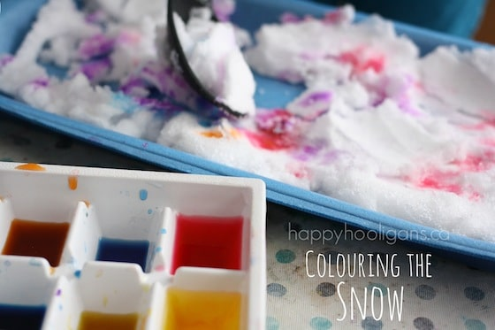 snow and watercolours