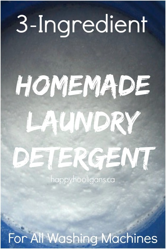 Homemade Laundry Detergent with Borax, Washing Soda and Ivory Soap