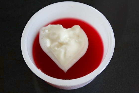 jello with ice cream heart
